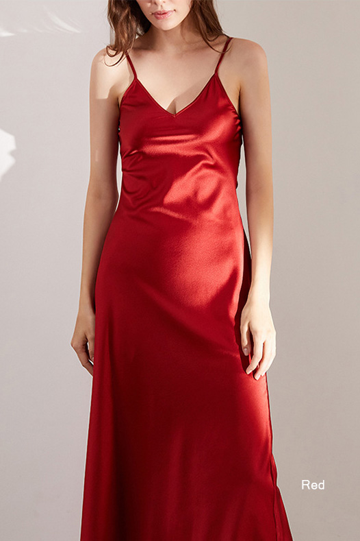 women multiple colors silk and satin petite camisole dress